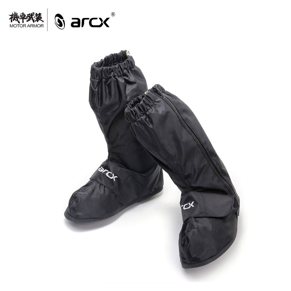 ARCX Motorcycle Mens Waterproof Rain Shoes Non-slip Black Moto Rain Boots Outdoor Reflective Shoes Cover Rainy Shoes For Men