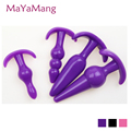 2016 New 4 Sets Waterproof Silicone Anal Plug Butt Plug Anal Dildo Anal Balls Sex Toys Adult Products For Adult For Lovers
