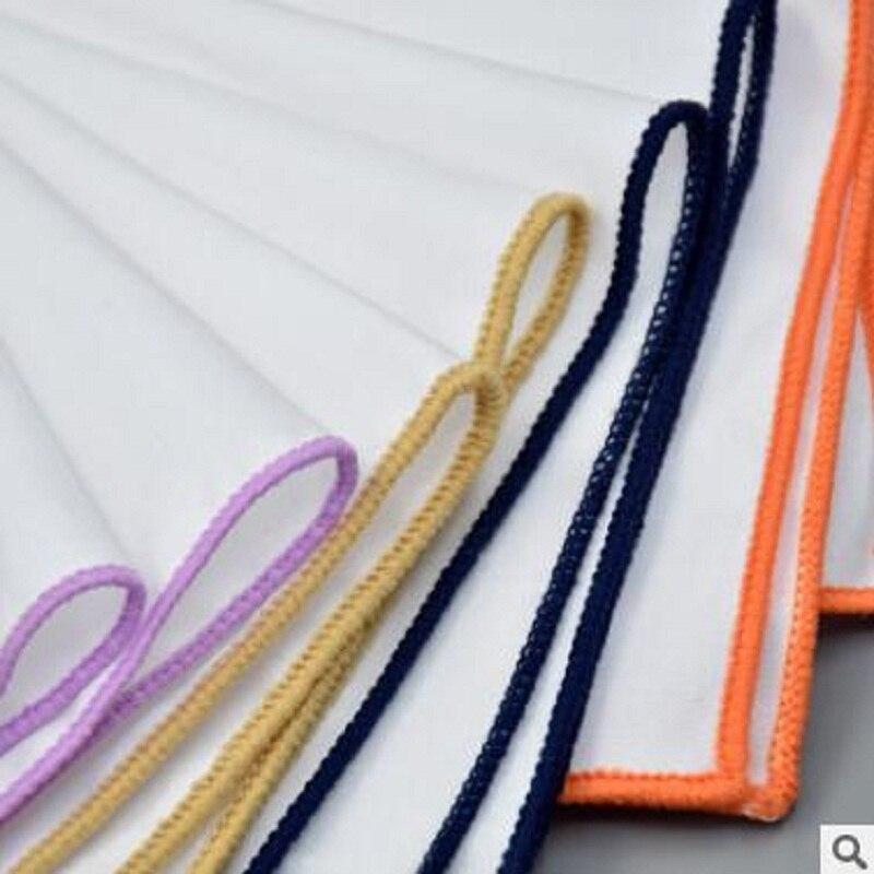 2018 The Latest Men's Suit Suits Business Pure White Pocket Cloth Plain Series Multicolor Optional Folding Square