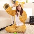 RILAKKUMA Пижамы Медведь Ползунки Япония Косплей Костюм пижама Аниме Пижама Пижамы Женские Sleepwea