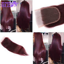 99J Lace Closure Brazilian Straight Lace Closure Free Middle 3 Part Hair Closure With Part Swiss Lace