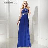 Royal Blue Evening Dresses Cheap 2017 Vestido Longo De Festa Formal Prom Dress A Line Chiffon