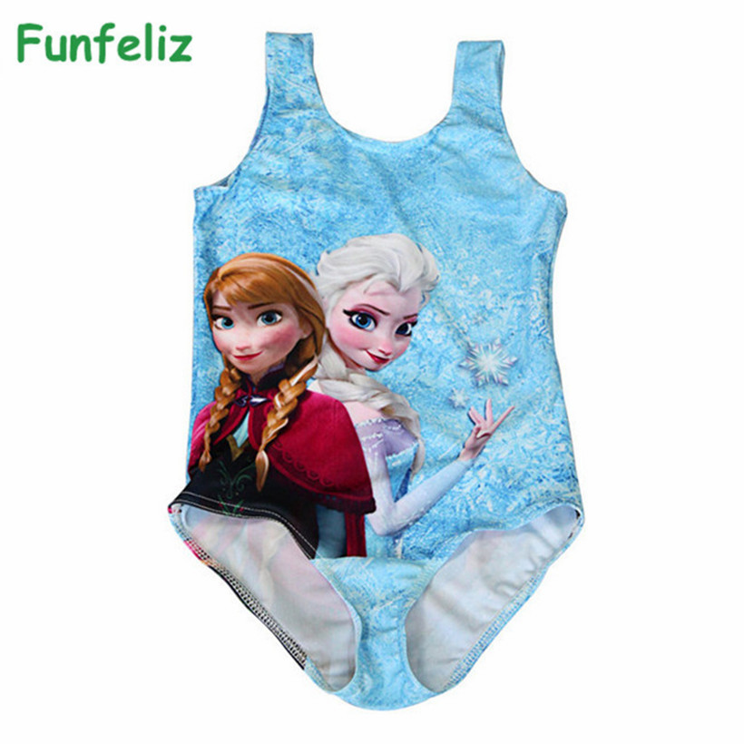Frozen Anna Elsa One Piece Tutu Swimsuit Beach and Poolside Set