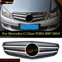 Спереди гриль сетки для Mercedes W204 C класса 2007 2014 авто бампер Запчасти для авто C180 C200 c250 C350 C400 c450 c220 c250 C300