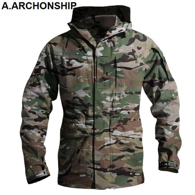 M65 UK US Army Clothes Windbreaker Military Field Jackets Mens Winter/Autumn Waterproof Flight Pilot Coat Hoodie Three colors