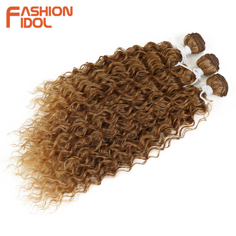 Мода IDOL кудрявые синтетические волосы для наращивания пучки Омбре серебристо-серый блонд 3 шт./партия термостойкие пучки волнистых волос