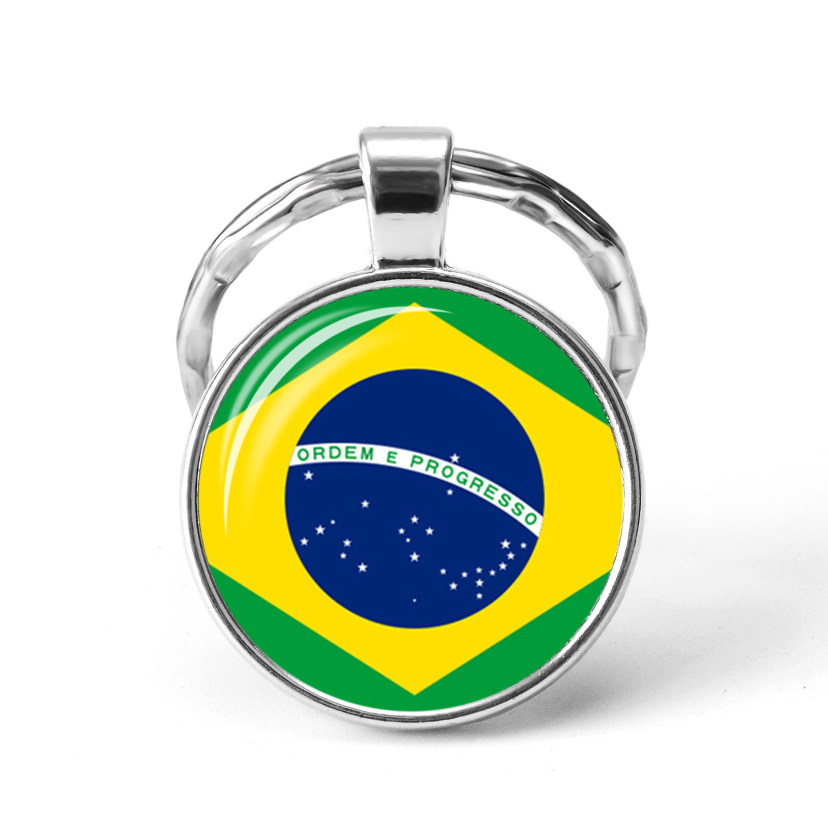 South America Countries Flag Key Chain Brazil Chile