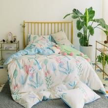 Bed Cover Set Cute Cartoon Duvet Cover Set Bedsheets Cotton Soft Pillow Case Bed Linen 4pcs Set High Quality Home Textile AWNH