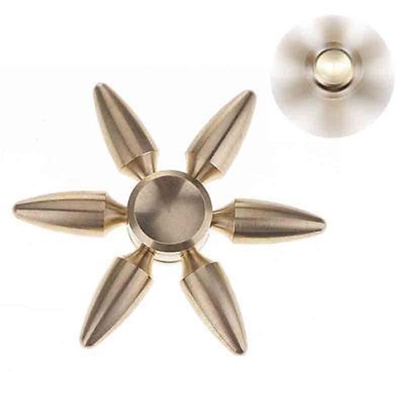 Fashion Brass Bullet Hand Spinner Copper Fidget EDC Toys Brass Finger Gyro AHDH Anti Stress Toys
