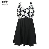 One Piece Swimsuit 2017 Women Plus Size Swimwear Sexy Floral Print Large Size XL 6XL Vintage