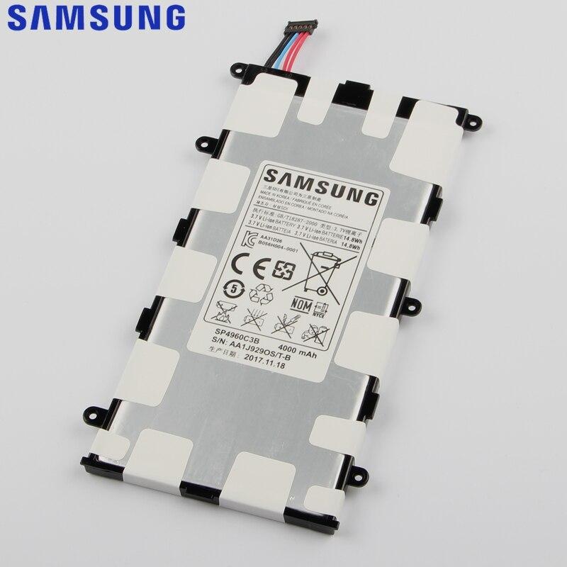 D'origine de Remplacement Samsung Batterie SP4960C3B Pour Galaxy Tab 7.0 Plus P6200 P6210 P3110 P3100 GenuineTablet Batterie 4000 mAh