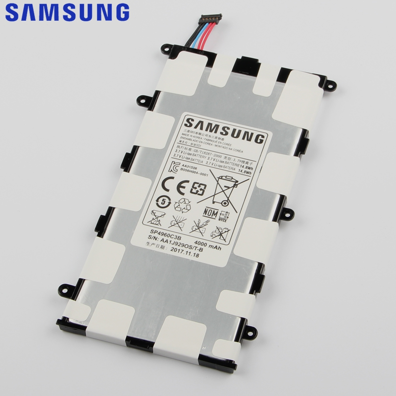 Original Replacement Samsung Battery SP4960C3B For Galaxy Tab 7.0 Plus P6200 P6210 P3110 P3100 GenuineTablet Battery 4000mAh