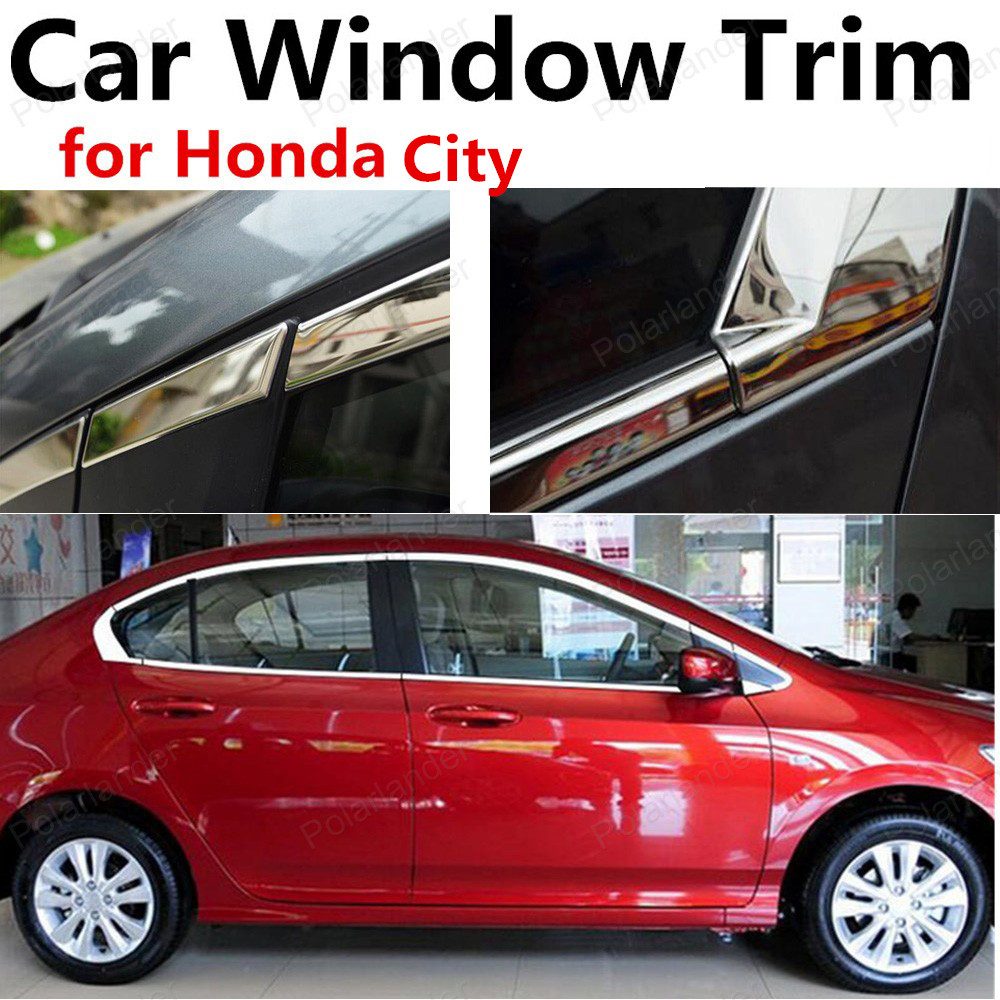 hot sell Car Styling Window Trim Stainless Steel For Honda City Decoration Strip without column Car Accessories 10 pairs fabric faced foot care feet insoles invisible cushion silicone gel heel liner shoe pads wholesale