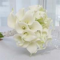 1 TAKıM DIY (Calla düğün çiçekleri gelin buketleri + Calla Broş) taze simpley arpacık Ipek Çiçek Düğün dekorasyon aksesuarı Için
