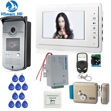 7 inch Monitors Video Intercom Door Phone System Doorbell ID Card HD 700TVL Night Vision Camera Remote Unlock Access Control