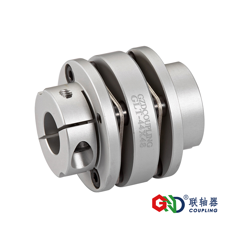 GLT aluminum alloy stepped double diaphragm clamping series shaft coupling D19-D82mm;L24.5-87mm