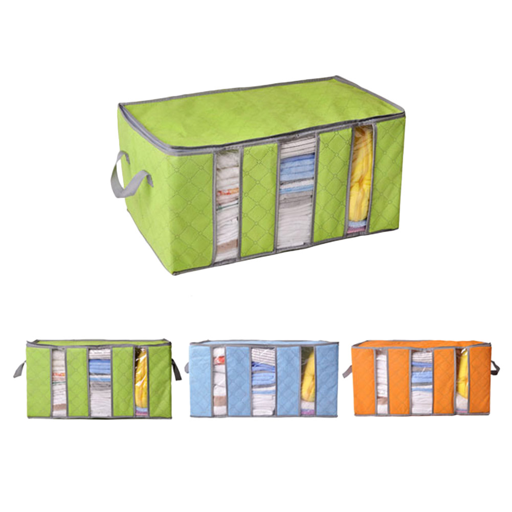 Foldable Storage Bag Bamboo Charcoal Organizers Great for Clothes Blankets Closets Bedrooms @LS