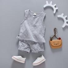Summer Toddler Baby Boys Girls Sleeveless Shirt and Short Set