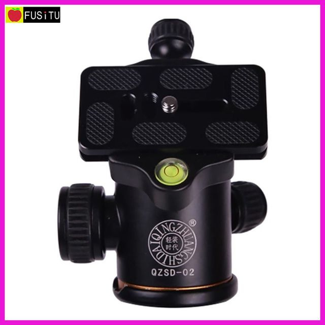 QZSD-02 360 Degree Aluminum Ball Head + Quick Release Plate for Camera Tripod Monopod