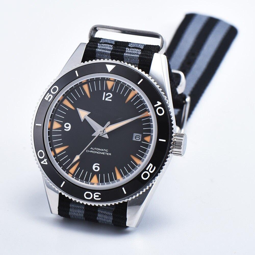 Debert 41mm zegarek sportowy zegarek szafirowe mechaniczny ceramiczne Top marka luksusowe kalendarz automatyczny zegarek męski w Zegarki mechaniczne od Zegarki na  Grupa 1
