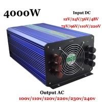 Nuevo 4000W 60 72 96 110VDC 110 V 220VAC inversor Solar de onda sinusoidal pura inversor de