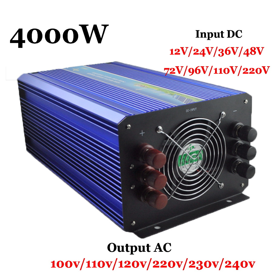 4000W 60 72 96 110VDC 110V 220VAC Pure Sine Wave Solar Inverter Wind Inverter Surge Power