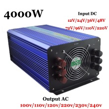 4000W 60/72/96/110VDC 110V/220VAC Pure Sine Wave Solar Inverter  Wind Inverter,Surge Power 8000W,Single Phase Off Grid Inverter