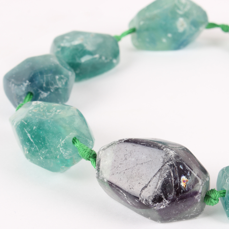 """Natural Stone Fluorite Rough Nuggest Bead Strands, 22x15x8mm, Hole: 2mm; About 10~17pcs/strand, 16.54"""""""
