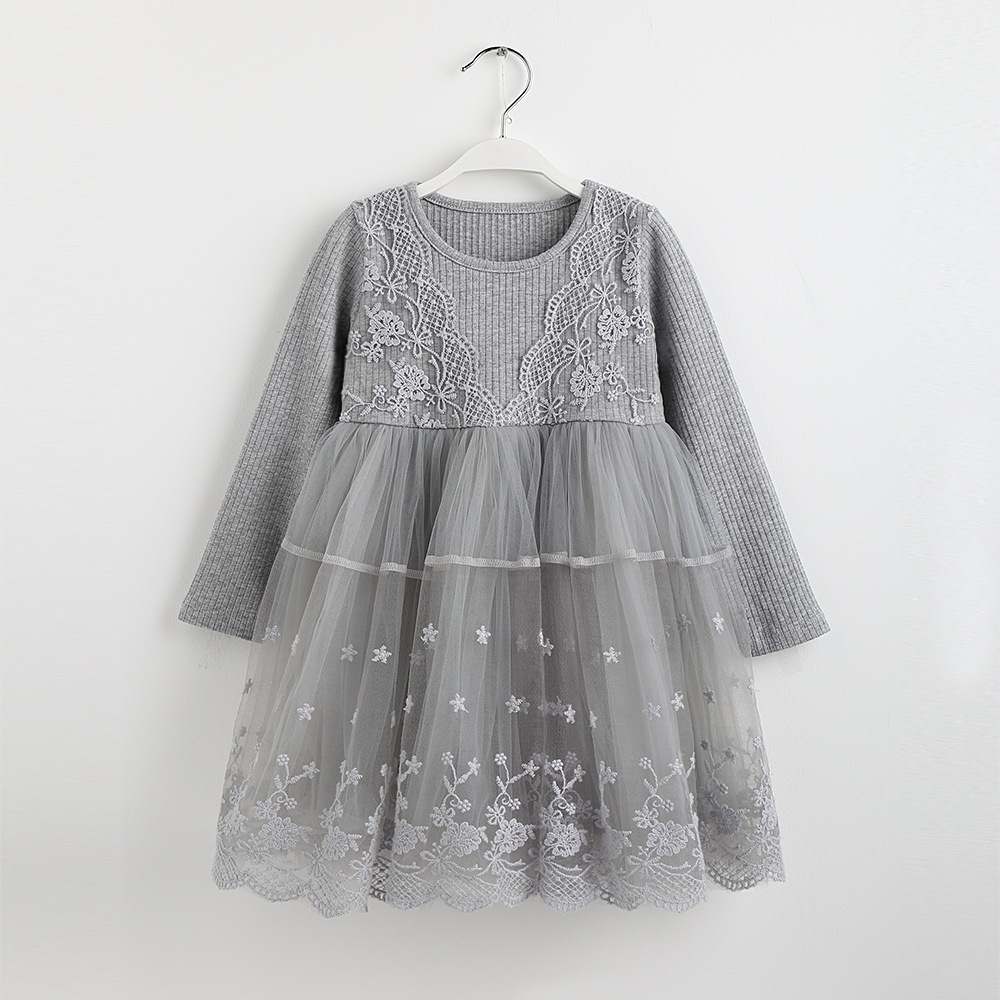 kids clothes baby girls lace dress long sleeve dresses toddler girl spring dress 2018 autumn little gils dresses for 2-8 years