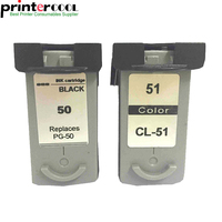 2Pk PG 50 CL 51 For Canon PG 50 CL 51 Ink Cartridge For Canon Pixma MP160 MP150 MP170 MP180 MX300 MP450 MP460 MX318 MX308 IP2200