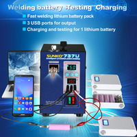 SUNKKO 737U 2.8KW Double Pulse Battery Spot Welding Machine USB Power Charging Test Port For 18650 Battery Pack Welding