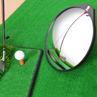 Golf Swing Mirror Portable Acrylic Stainless Steel Angle Adjustable Golf Putting Mirror Golf Tool for Beginners And Enthusiasts