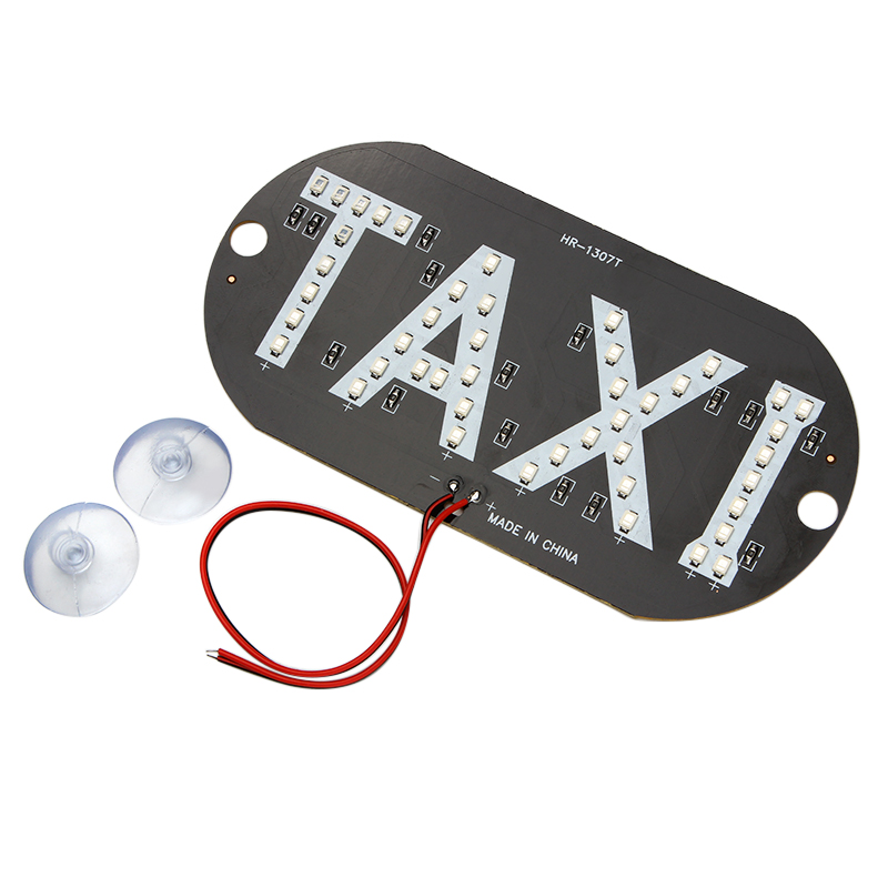 Universal Car Windscreen Windshield Cab Sign Blue LED Taxi Lights Lamps Bar DC 12V Auto Light Source Car-Styling 45smd led white blue green red yellow car auto cab sign top light vehicles windscreen white led lamp dc 12v taxi light