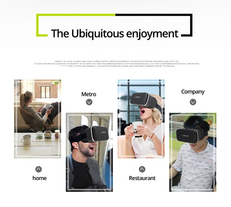 Original VR shinecon 6.0 headset version virtual reality glasses 3D glasses headset helmets smart phones Full package+GamePad 21