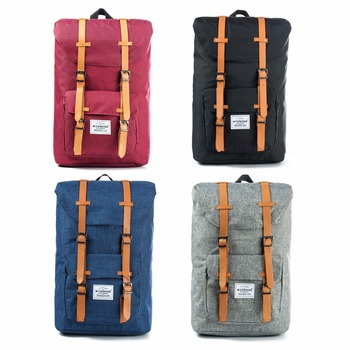 European American Style Backpacks Black Unisex Backpack Men Canvas Backpack Women School Backpacks Laptop Travel Bag 1