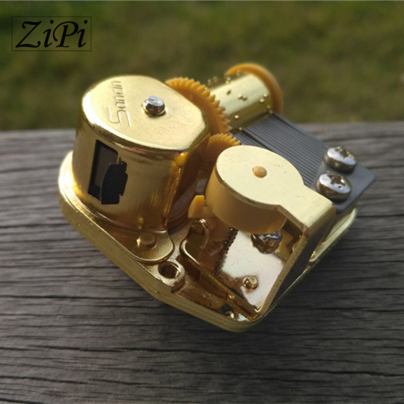 Zipi Home 25pcs/lot Gold DIY Clockwork Type Movements Parts Hurdy-gurdy Music Box Movement Set 18 Tones Beautiful Melody Gift