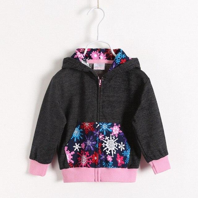 New 2016 spring autumn baby girls hoodies sweatshirts fashion polka dot baby girls sweatshirts and hoodies
