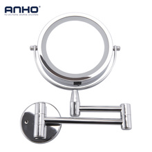 Для ванной зеркало led косметическое зеркало 1X/3x увеличение Регулируемый Настенный Макияж зеркало двойное Арм расширение 2-Уход за кожей лица ванная комната зеркало