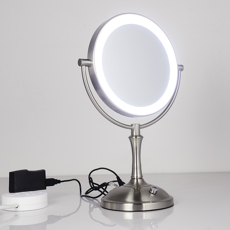 Touch Dimmer Led Makeup Mirror Lighted 3x Magnifying ...