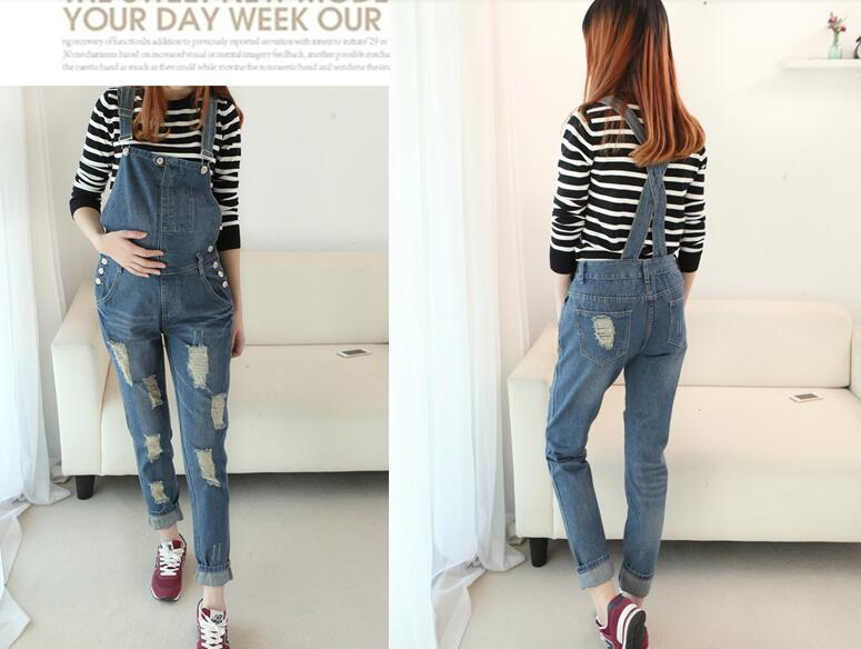 2016 New maternity Denim overalls Pregnant women fashion jeans Pregnant comfortable Abdominal Jean trousers for pregnant women afs jeep autumn man jeans mens straight trousers fashion male jean casual long trousers mans clothes denim botton plus size 42
