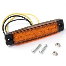 10 pcs Giallo 24 V 6 LED Indicatore Laterale Indicatori di Direzione Luci Lampada per il Bus del Camion Rimorchio LED Laterali Segnali Luminosi