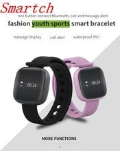 Smartch V8 Смарт часы Приборы для измерения артериального давления динамического сердечного ритма Мониторы SmartBand Фитнес трекер Шагомер Смарт Спорт Браслет