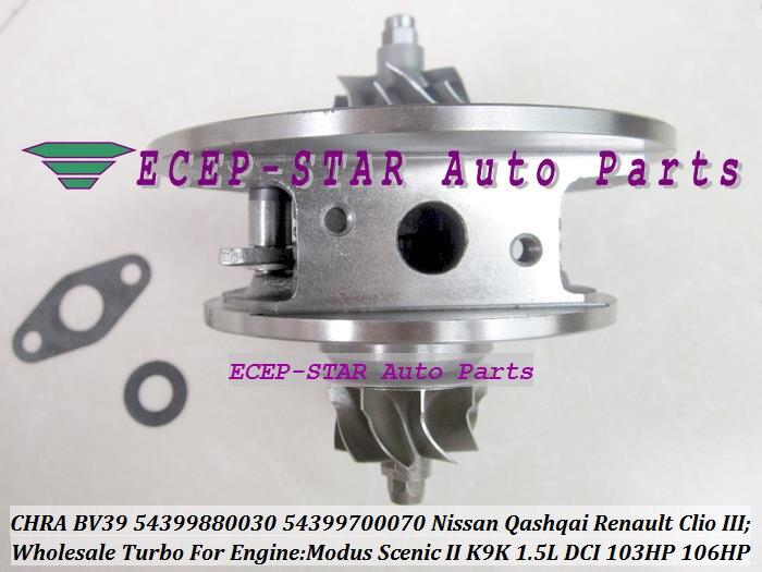 Turbo CHRA Cartridge BV39 54399700030 54399880030 Turbocharger For NISSAN Qashqai For Renault Clio 3 Megane 2 K9K 732 1.5L 106HP turbo chra bv39 turbo charger cartridge core for renault modus scenic ii 1 5 dci k9k 106hp 2004 54399880030 54399700030