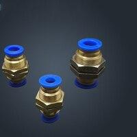 Бесплатная доставка 300 шт. 4 мм Нажмите Пневматический воздушный клапан в совместных Быстрый фитинги адаптер PM4
