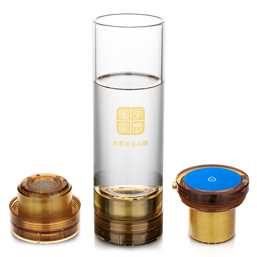 7.8HZ low frequency resonance MRETOH and SPE Hydrogen Rich Generator Water Ionizer 600ML USB chargeable glass cup