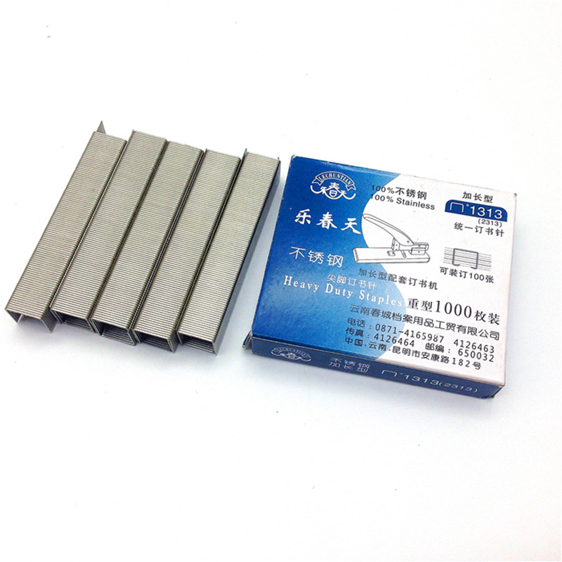 stainless steel 23/13 stapler 100 page thick staples 13*13 mm clearance sale office stationery 1 boxes/1 pcs 1000 nail wlxy wl 1301 high peed steel drills set 13 pcs page 4