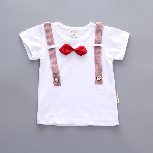 Newborn Summer baby boys clothes set new style t-shirt + shorts 2pcs newborn boy gentleman clothing set 3