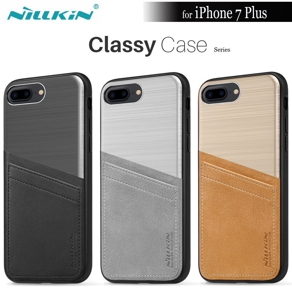 Nilkin For iPhone 7 Plus Case Nillkin Classy Luxury Phone Case With Card Slot Holder Back Cover Case For iPhone 7 Plus Capa 5.5