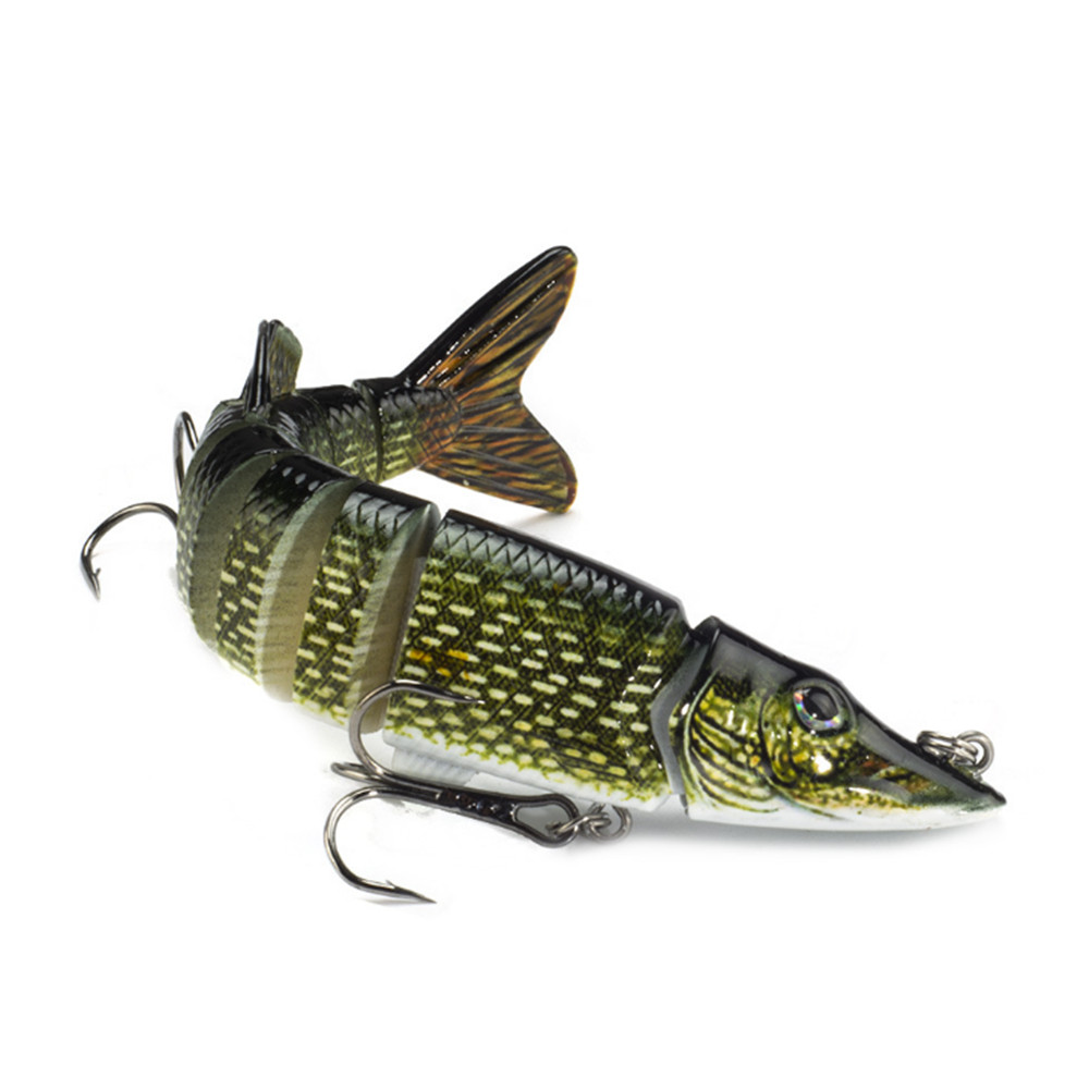1Pcs 12.5cm 21g 9-segements Isca Artificial Hard Bait Pike Bass Lure Muskie Wobbler Fishing Lures Swimbait Crankbait 13 Colors allblue new jerkbait professional 100dr fishing lure 100mm 15 8g suspend wobbler minnow depth 2 3m bass pike bait mustad hooks
