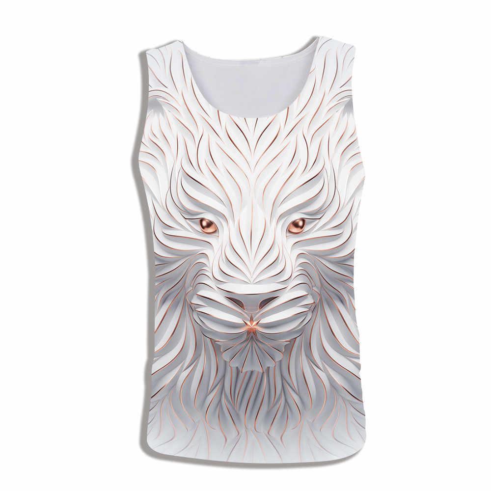 Новая мода пары мужчины женщины унисекс без рукавов аниме мечта Единорог животное кошка 3D печать повседневная майка жилет тройник